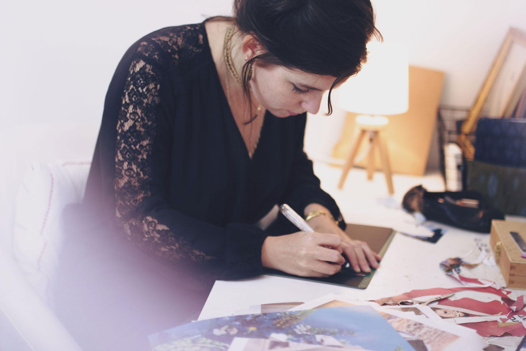 photographe tours portrait d'artiste dans son atelier