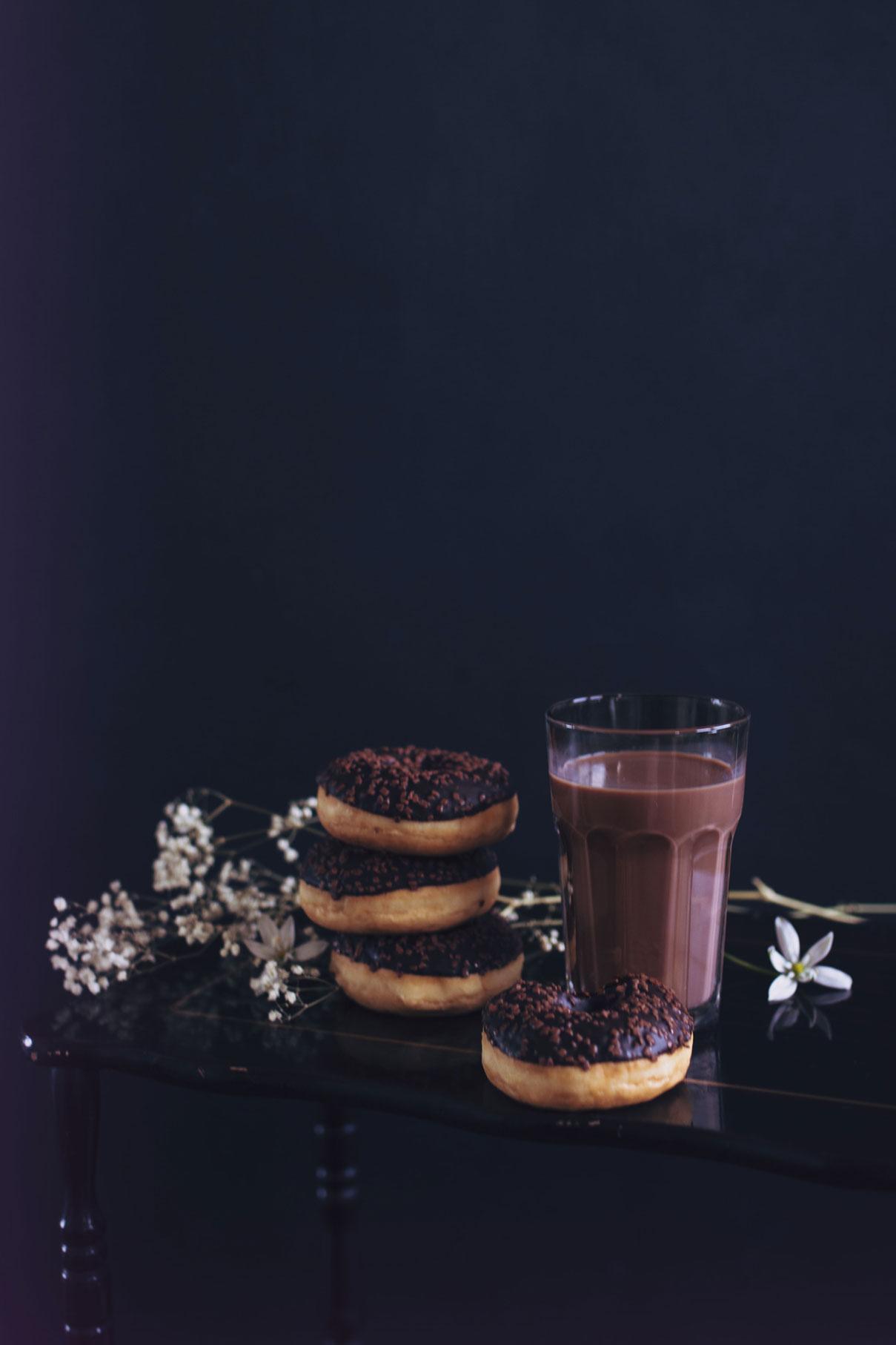 photographie culinaire donuts chocolat à tours