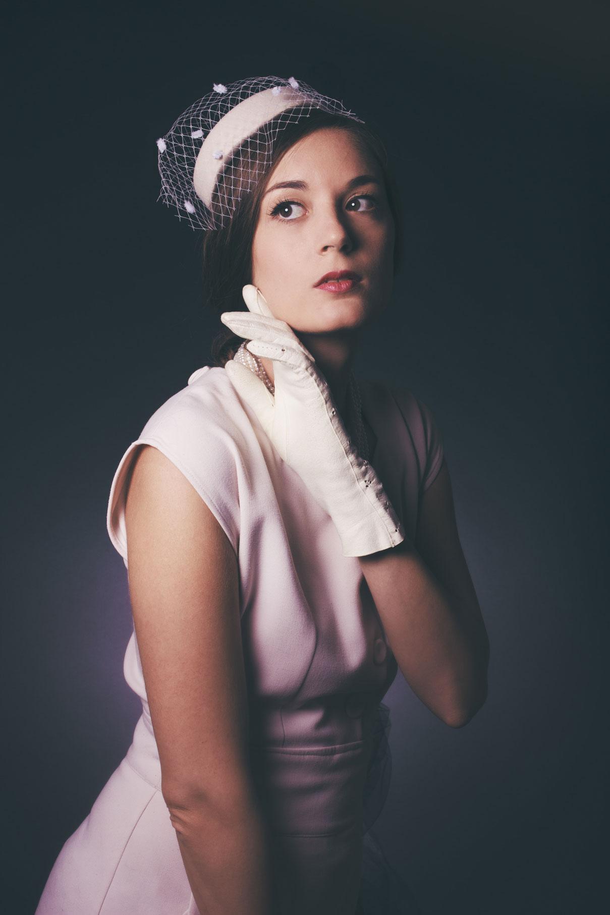 portrait de femme type années 50