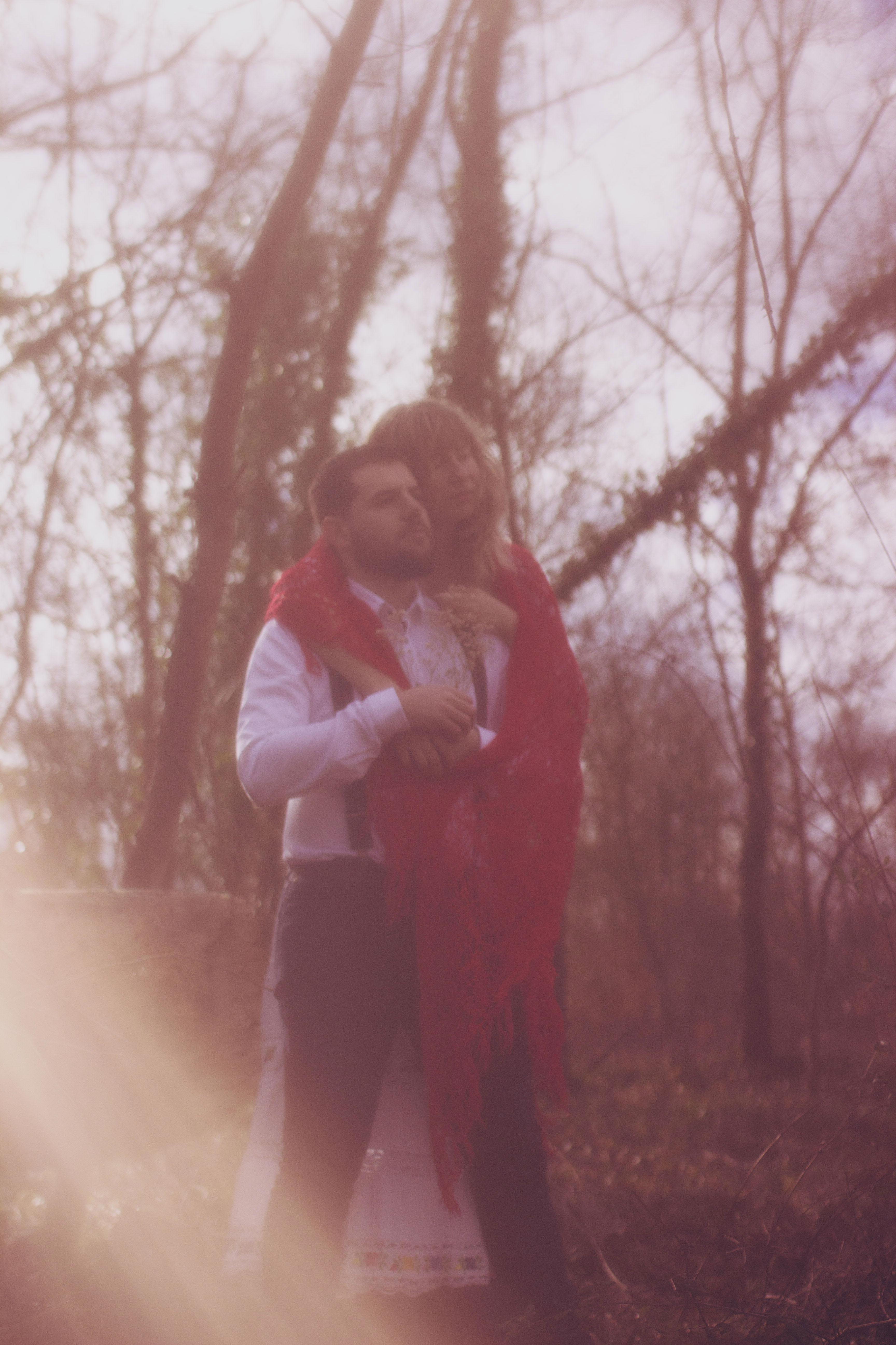 portrait couple romantique bohème