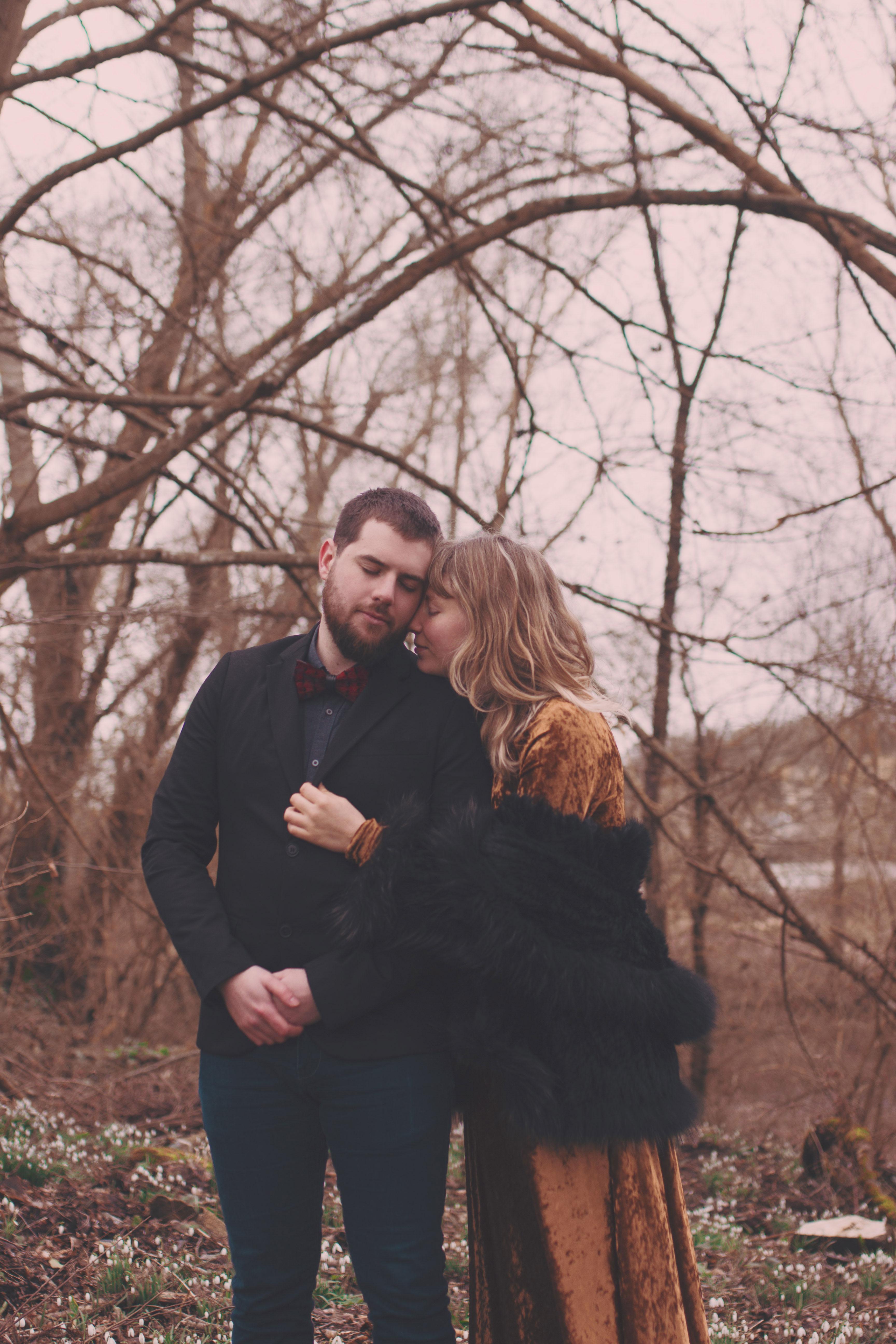 portrait d'un couple sur les bords de loire