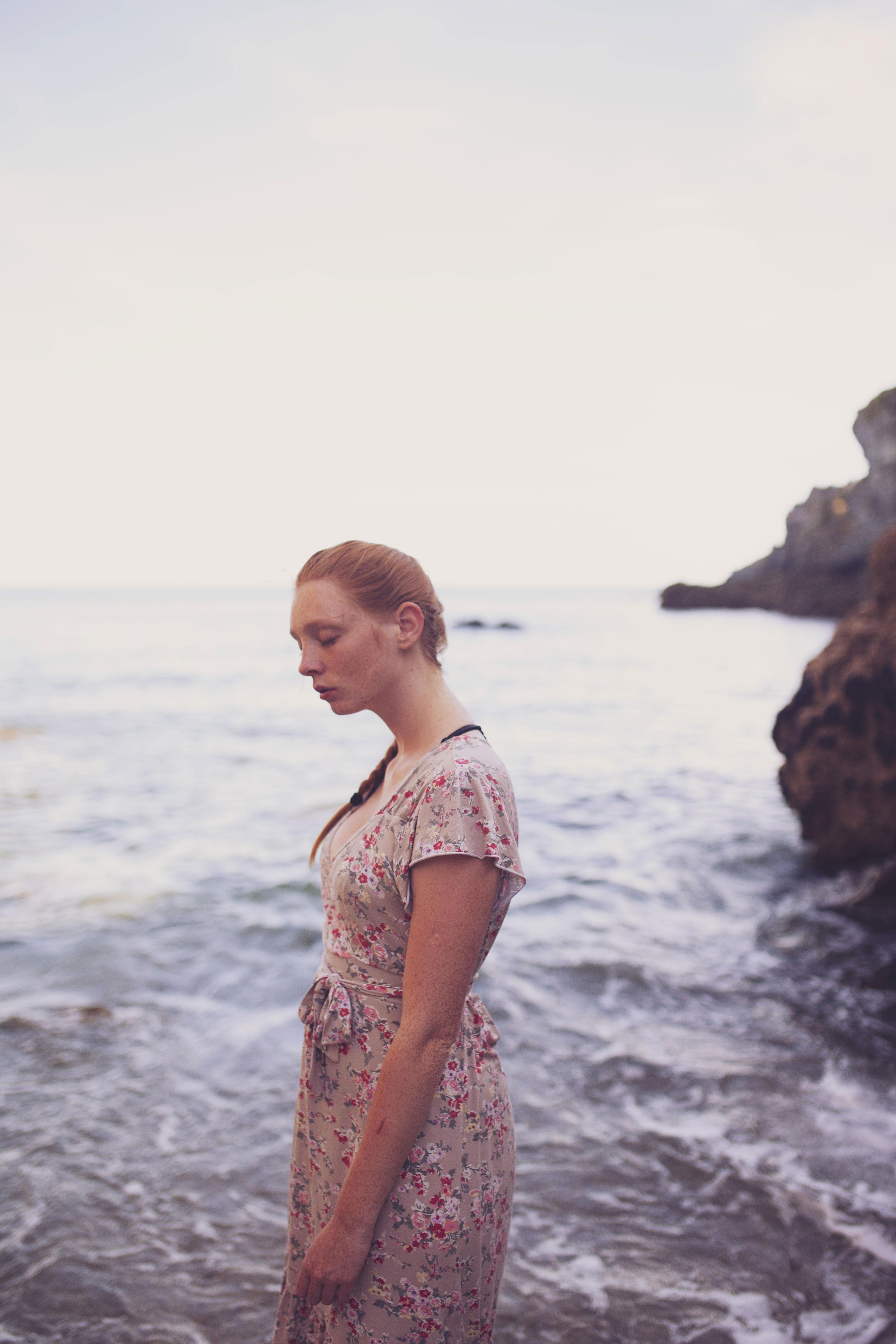portrait au bord de mer