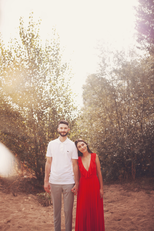 portrait d'un couple en nature